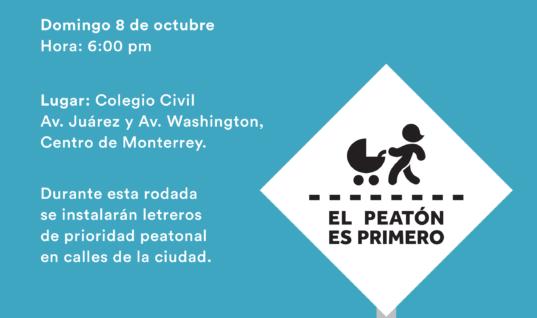 Pedaleada por los Derechos Peatonales – 8 de septiembre