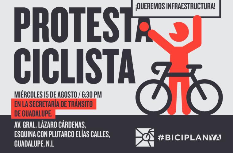Protesta ciclista en Tránsito de Guadalupe / 15 de agosto