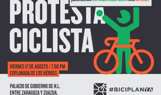 Protesta ciclista en la Explanada de los Héroes – 17 de agosto
