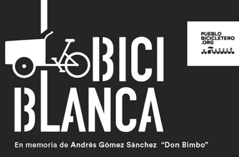 """Bicicleta Blanca en memoria de Andrés Gómez Sánchez """"Don Bimbo"""""""
