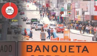 Peatones sólo pueden usar 2% de vías regias; automóviles, 98% – Milenio