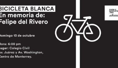 Rodada, protesta e instalación de Bicicleta Blanca – 13 de octubre