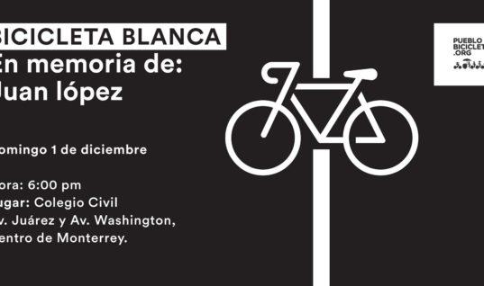 Bicicleta Blanca en memoria de Juan López Mendoza