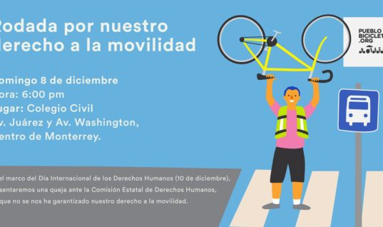 Rodada por nuestro derecho a la movilidad – 8 de diciembre