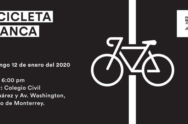 Bicicleta Blanca en memoria de ciclista no identificado – San Nicolás de los Garza
