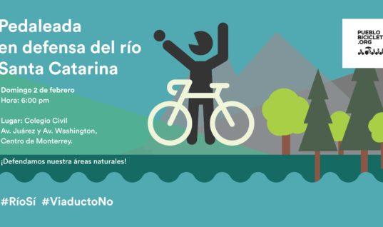 Pedaleada en defensa del río Santa Catarina – 2 de febrero, 2020