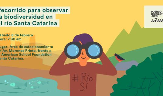 Recorrido para observar la biodiversidad en el río Santa Catarina – 8 de febrero, 2020