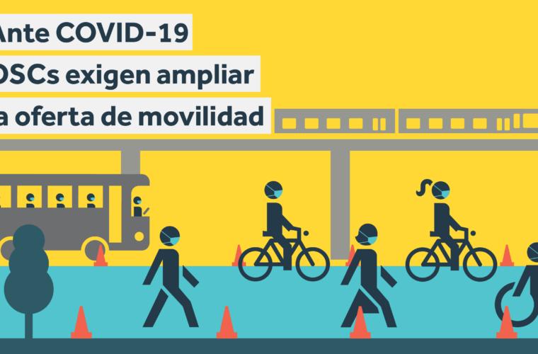 Ante COVID-19 OSCs exigen ampliar la oferta de movilidad – COMUNICADO