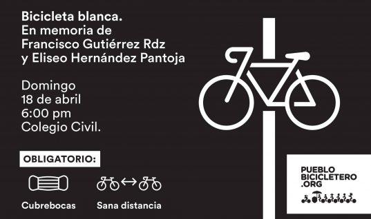 Bicicletas blancas en memoria de Francisco Gutiérrez Rodríguez y Eliseo Hernández Pantoja