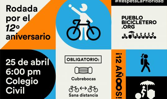 Rodada por el 12º aniversario – #RespetaLaPrioridad – 25 de abril