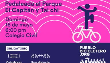 Pedaleada al parque El Capitán y tai chi – 16 de mayo