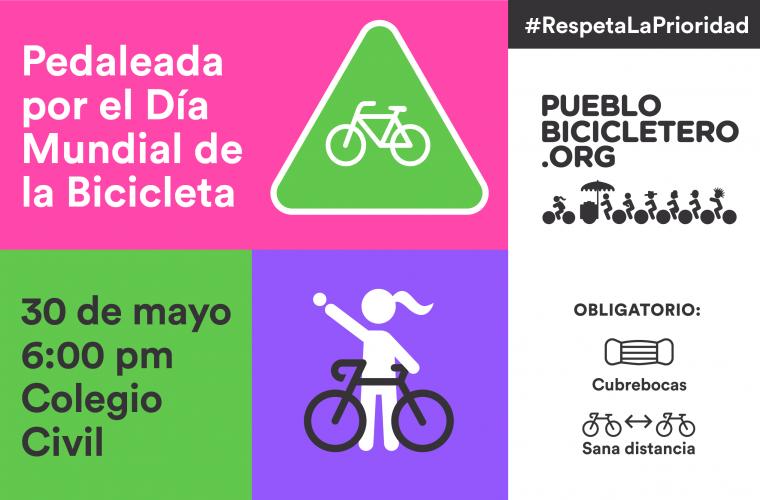 Pedaleada por el Día Mundial de la Bicicleta + intervención #RespetaLaPrioridad – 30 de mayo