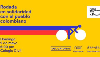 Rodada en solidaridad con el pueblo colombiano – 9 de mayo