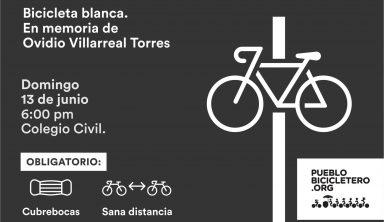 Bicicleta Blanca en memoria de Ovidio Villarreal Torres