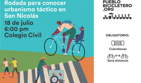Rodada para conocer urbanismo táctico de San Nicolás – 18 de julio