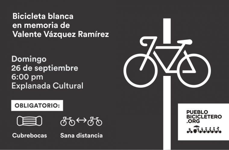 Bicicleta blanca en memoria de Valente Vázquez Ramírez – 26 de septiembre