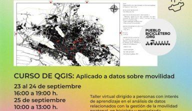 Curso de QGIS: aplicado al análisis de datos sobre movilidad – 23 al 25 de septiembre