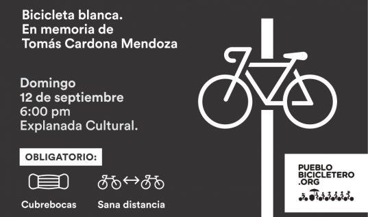 Bicicleta blanca en memoria de Tomás Cardona Mendoza –  12 de septiembre