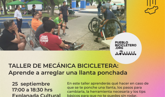 Taller de mecánica bicicletera: Aprende a arreglar una llanta ponchada – 26 de septiembre