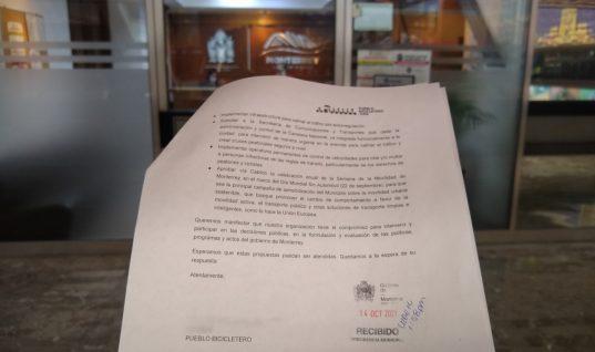 Solicitud al gobierno de Luis Donaldo Colosio Riojas para atender temas prioritarios de movilidad, desarrollo urbano y medio ambiente